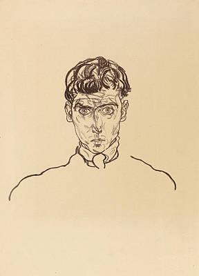 Self-portrait Painting - Portrait Of Paris Von Gutersloh by Celestial Images