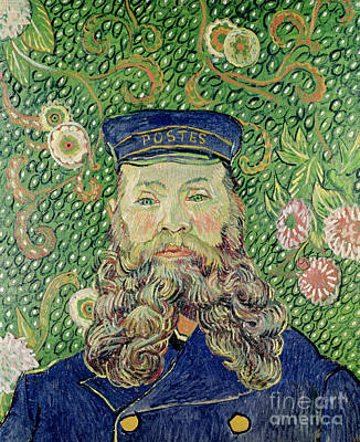 Mail Painting - Portrait Of The Postman Joseph Roulin by Vincent Van Gogh