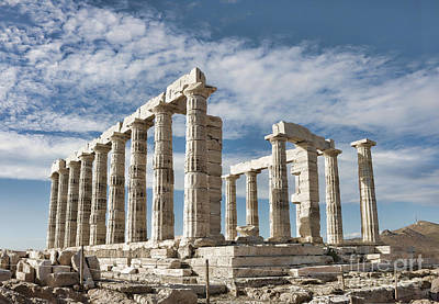 Ancient Architecture Print featuring the photograph Poseidon's Temple by Gabriela Insuratelu