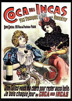 Addictive Photograph - Postcard Advertising Coca Des Incas by National Library Of Medicine