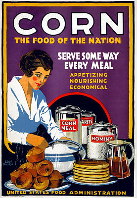 Muffins Painting - Poster Corn, 1918 by Granger