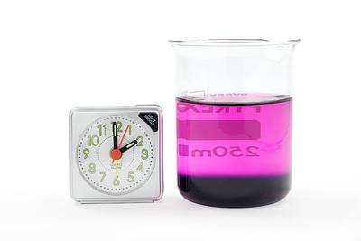 Potassium Permanganate Diffusion In Water Print by Trevor Clifford Photography