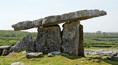 Erect Photograph - Poulnabrone Dolmen by Clouds Hill Imaging Ltd