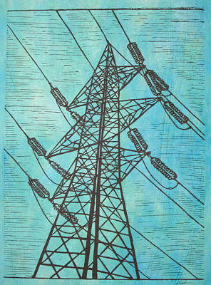 Austin Drawing - Power by William Cauthern