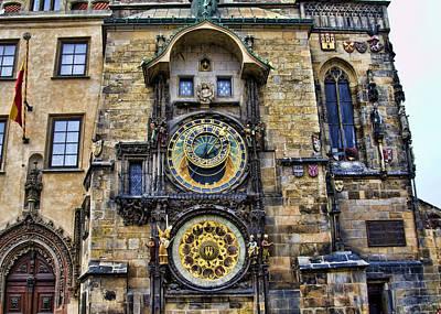 Prague - Astronomical Clock Print by Jon Berghoff