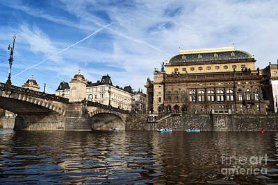 Prague From Vltava Print by Jelena Jovanovic