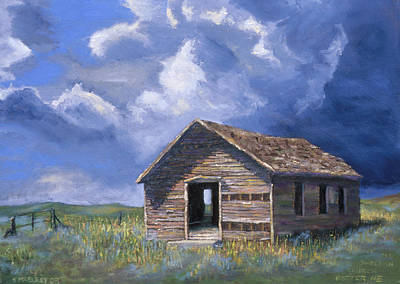 Cemetary Painting - Prairie Church by Jerry McElroy