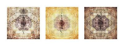 Mandala Photograph - Prayer Flag Triptych by Carol Leigh