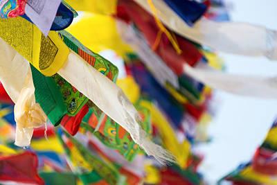 Tibetan Buddhism Photograph - Prayer Flags by Dutourdumonde Photography