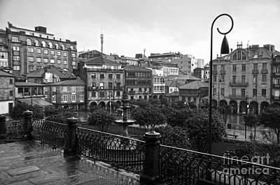 Decor Photograph - Praza Da Ferreria In Pontevedra Bw by RicardMN Photography