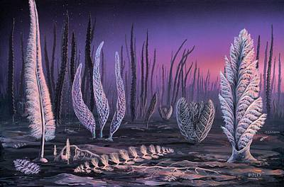 Pre-cambrian Life Forms Print by Richard Bizley