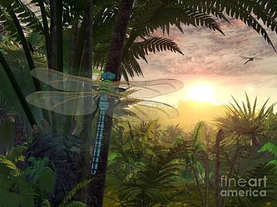Meganeura Photograph - Prehistoric Dragonfly, Artwork by Walter Myers