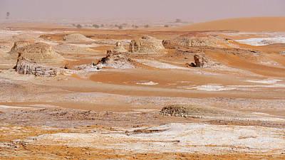 Dry Lake Photograph - Prehistoric Saharan Lake Deposits by Thierry Berrod, Mona Lisa Production