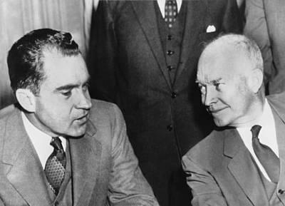 Washington D.c. Photograph - President Eisenhower And Nixon by Underwood Archives