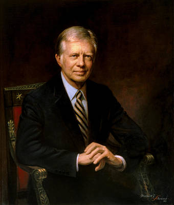 Carter Painting - President Jimmy Carter by War Is Hell Store