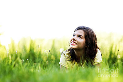 Person Photograph - Pretty Girl Smiling by Michal Bednarek