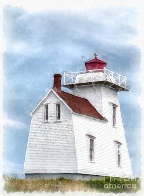 Prince Edward Island Lighthouse Print by Edward Fielding