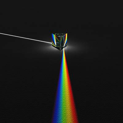 Prism And Spectrum Print by David Parker