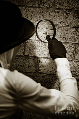 Private Eye Searching For Clues Print by Jorgo Photography - Wall Art Gallery