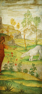 Nativity Painting - Procris And The Unicorn by Celestial Images