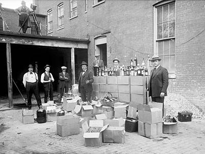 Of Liquor Photograph - Prohibition Raid by Library Of Congress