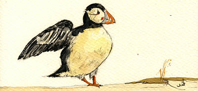 Puffin Bird Original by Juan  Bosco
