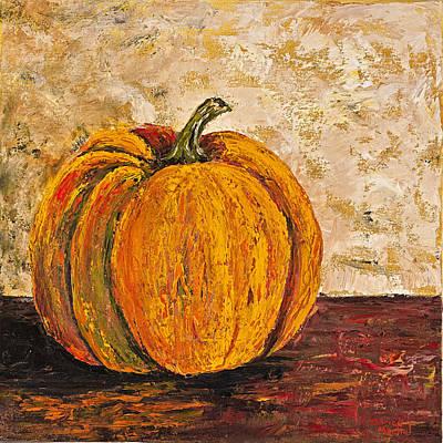 Impressionistic Still Life Painting - Pumpkin by Darice Machel McGuire