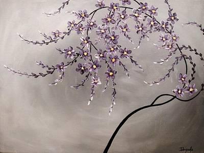 Sakura Painting - Purple Blossoms  by Tomoko Koyama