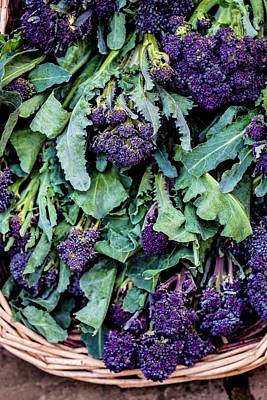 Broccoli Photograph - Purple Sprouting Broccoli by Aberration Films Ltd