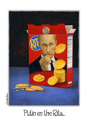 Humor. Painting - Putin On The Rits... by Will Bullas