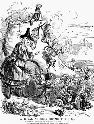 Queen Victoria Cartoon Print by Granger
