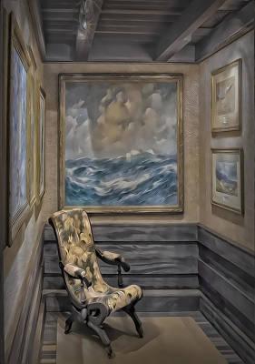 Quiet Room Print by Susan Candelario