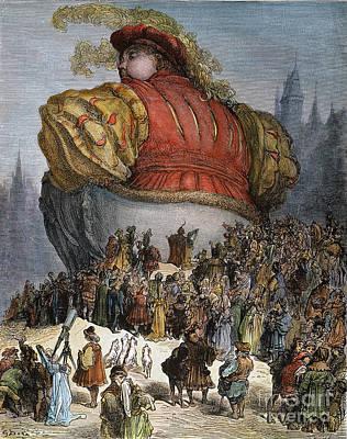 Fat Dog Photograph - Rabelais: Gargantua, 1873 by Granger