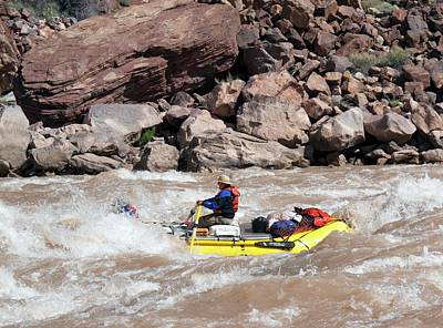 Rafting The Colorado Print by Jim West
