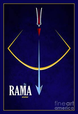 Rama The Avatar Print by Tim Gainey