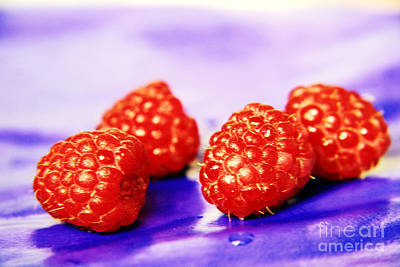 Raspberries Original by Lali Kacharava