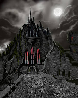 Red Death Tower Print by James Christopher Hill