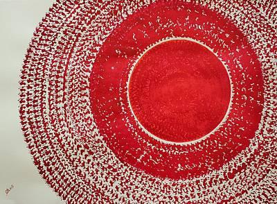Red Kachina Original Painting Original by Sol Luckman
