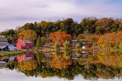 Red Mill In Clinton New Jersey Print by Geraldine Scull
