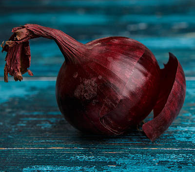 Onion Photograph - Red Onions by Nailia Schwarz