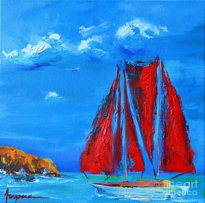 Red Sails Print by Patricia Awapara