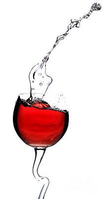 Red Wine Print by Andreas Berheide