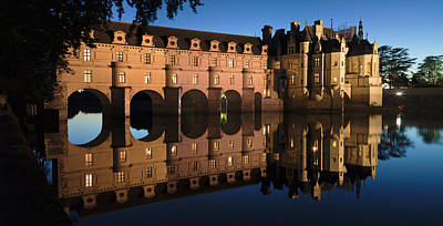 Cher Photograph - Reflection Of A Castle In A River by Panoramic Images