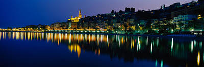 Menton Photograph - Reflection Of Buildings In Water by Panoramic Images