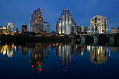 Reflection Of Buildings In Water, Town Print by Panoramic Images