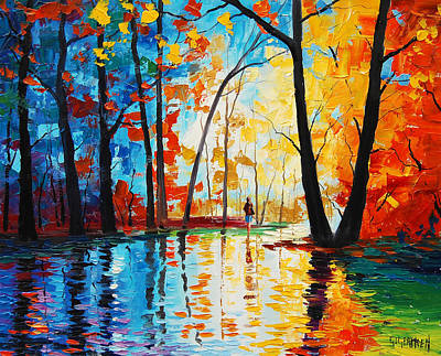 Leafy Painting - Reflections by Graham Gercken