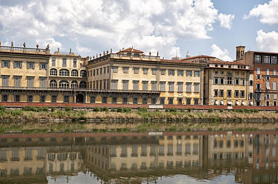 River Scenes Photograph - Reflections In The Arno River by Melany Sarafis