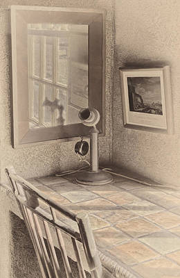 Antique Telephone Photograph - Reflections by Susan Candelario
