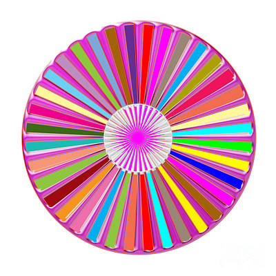 Rights Manages Images Painting - Colorful Signature Art Chakra Round Mandala By Navinjoshi At Fineartamerica.com Rare Fineart Images  by Navin Joshi