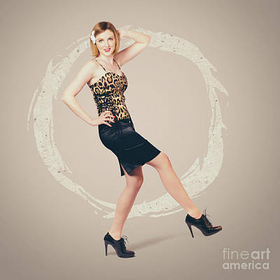80s Photograph - Retro Fashion Pin-up Girl In 80s Glamour by Jorgo Photography - Wall Art Gallery